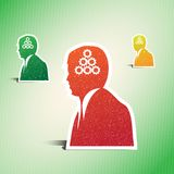 Bedrijfs mens, conceptuele vector Stock Foto