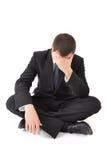 Bedrijfs mens in crisis Stock Afbeeldingen