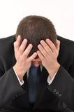Bedrijfs mens in crisis royalty-vrije stock afbeeldingen