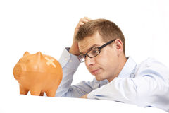 Bedrijfs mens in crisistijd Royalty-vrije Stock Foto