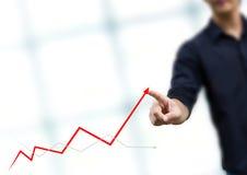 Bedrijfs mens - de groei Stock Foto