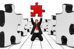 Bedrijfs mens - de juiste Oplossing - Zwarte Stock Foto's