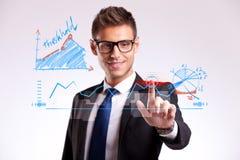 Bedrijfs mens die een goede keus maakt Stock Afbeeldingen