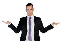 Bedrijfs mens die iets voorstelt Royalty-vrije Stock Fotografie