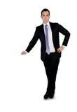 Bedrijfs mens die iets voorstelt Royalty-vrije Stock Afbeelding