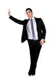 Bedrijfs mens die iets voorstelt Stock Fotografie