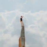 Bedrijfs mens die succes zoekt uitdaging Stock Foto's