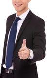 Bedrijfs mens die voor handdruk aanbiedt Royalty-vrije Stock Afbeelding
