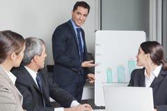 Bedrijfs mens in een bureau Royalty-vrije Stock Afbeelding