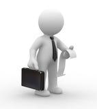 Bedrijfs mens en rekening royalty-vrije illustratie