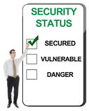 Bedrijfs mens en veiligheidsstatus Stock Afbeelding