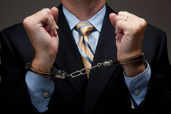 Bedrijfs mens in handcuffs Royalty-vrije Stock Afbeelding