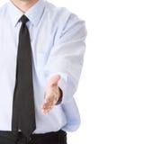 Bedrijfs mens klaar om een overeenkomst te plaatsen stock foto's