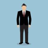 Bedrijfs mens in kostuum Royalty-vrije Stock Afbeelding
