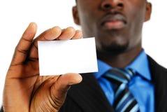 Bedrijfs mens met adreskaartje stock foto's