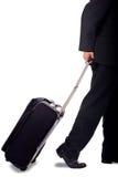 Bedrijfs mens met bagage Stock Foto's