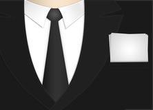 Bedrijfs mens met document Royalty-vrije Stock Afbeelding