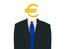 Bedrijfs mens met euro Royalty-vrije Stock Afbeeldingen