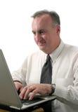 Bedrijfs mens met laptop computer ver2 Stock Afbeeldingen