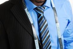 Bedrijfs mens met meetlint stock fotografie