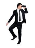 Bedrijfs mens met verrekijkers Stock Foto's