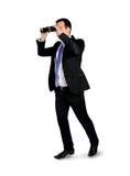 Bedrijfs mens met verrekijkers Royalty-vrije Stock Fotografie
