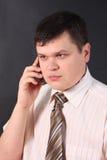 Bedrijfs mens op de telefoon stock fotografie