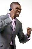 Bedrijfs mens op de Telefoon Stock Foto