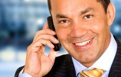 Bedrijfs mens op de telefoon Royalty-vrije Stock Afbeeldingen