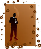 Bedrijfs mens op een koffiepauze Royalty-vrije Stock Afbeelding