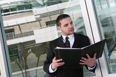 Bedrijfs Mens op het Werk Stock Afbeelding
