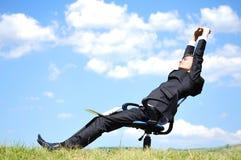 Bedrijfs Mens op stoel Stock Fotografie