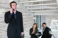 Bedrijfs Mens op Telefoon royalty-vrije stock afbeelding