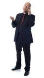 Bedrijfs mens op telefoon Stock Fotografie