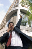Bedrijfs Mens op Telefoon Stock Afbeeldingen
