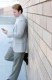 Bedrijfs mens status royalty-vrije stock foto