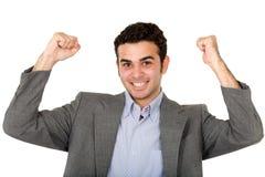 Bedrijfs mens - succes Stock Afbeeldingen