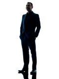 Bedrijfs mensen bevindend silhouet Royalty-vrije Stock Foto