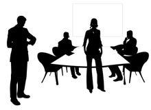 Bedrijfs mensen bij de vergaderingsruimte Royalty-vrije Stock Foto's