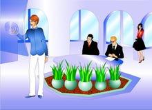 Bedrijfs mensen bij de vergaderingsruimte Stock Fotografie