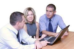 Bedrijfs mensen - Debat royalty-vrije stock foto