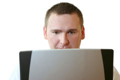 Bedrijfs Mensen die - aan Laptop werken Royalty-vrije Stock Afbeelding