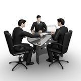Bedrijfs mensen die in bureau werken royalty-vrije illustratie