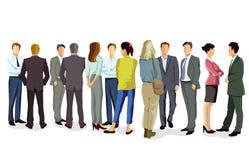 Bedrijfs mensen die gesprek hebben royalty-vrije illustratie