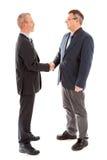 Bedrijfs mensen die handen schudden stock foto