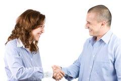 Bedrijfs mensen die handen schudden Royalty-vrije Stock Foto