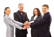 Bedrijfs mensen die handen shanking Royalty-vrije Stock Foto's