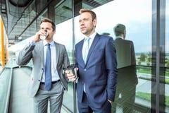 Bedrijfs mensen die koffiepauze hebben royalty-vrije stock foto