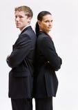 Bedrijfs mensen die zich rijtjes bevinden Royalty-vrije Stock Afbeeldingen