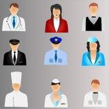 Bedrijfs mensenpictogrammen Stock Fotografie